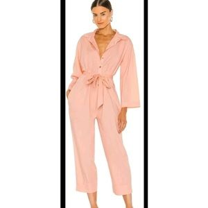 Free people jump suit in pink